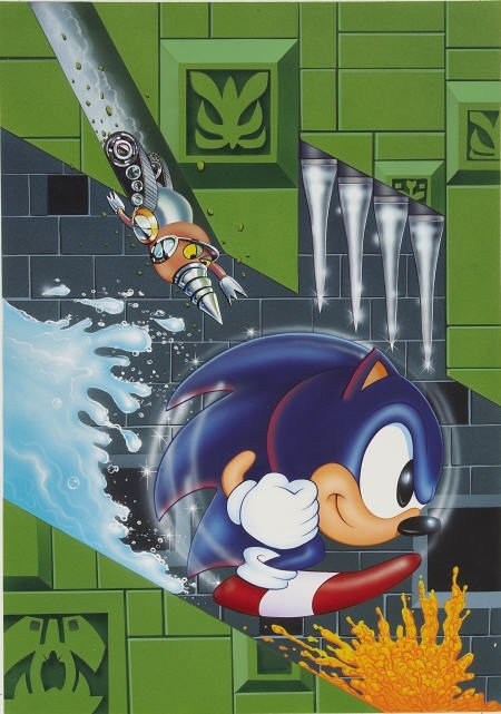 66024: AMERICAN ARTIST Sonic the Hedgehog Art