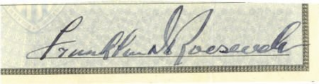 53003: Franklin D. Roosevelt: Clipped Signature.