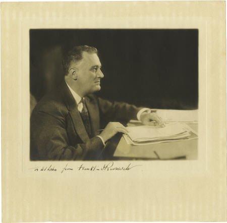 53004: Franklin D. Roosevelt: Inscribed Photograph