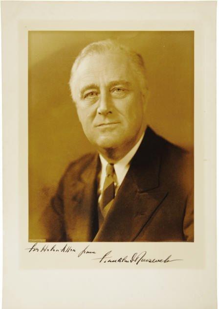 53005: Franklin D. Roosevelt: Inscribed Portrait
