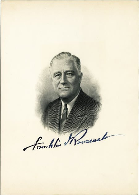 53006: FDR Signed Engraved Lithograph