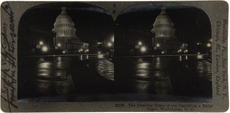 53007: Franklin D. Roosevelt: Signed Stereoview