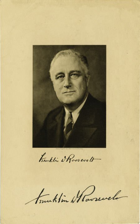 53008: FDR Signed Photograph From Book