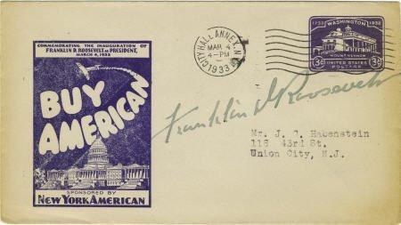 53014: Franklin D. Roosevelt: Postal Cover Signed