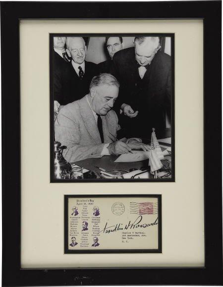 53021: Franklin D. Roosevelt: FDC Signed as President