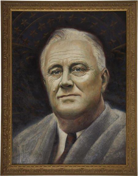53549: FDR, Original Portrait by Allan Dudley Jones