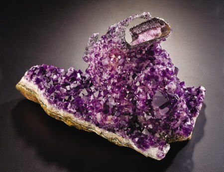 38002: AMETHYST CAST AFTER CALCITE
