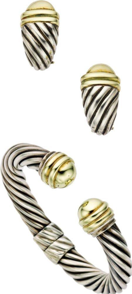 46001: Silver, Gold Jewelry Suite, David Yurman