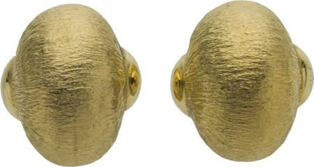 46005: Oversized Gold Shell Earrings, circa 1970