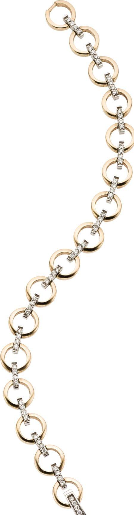 46012: Diamond, Gold Bracelet