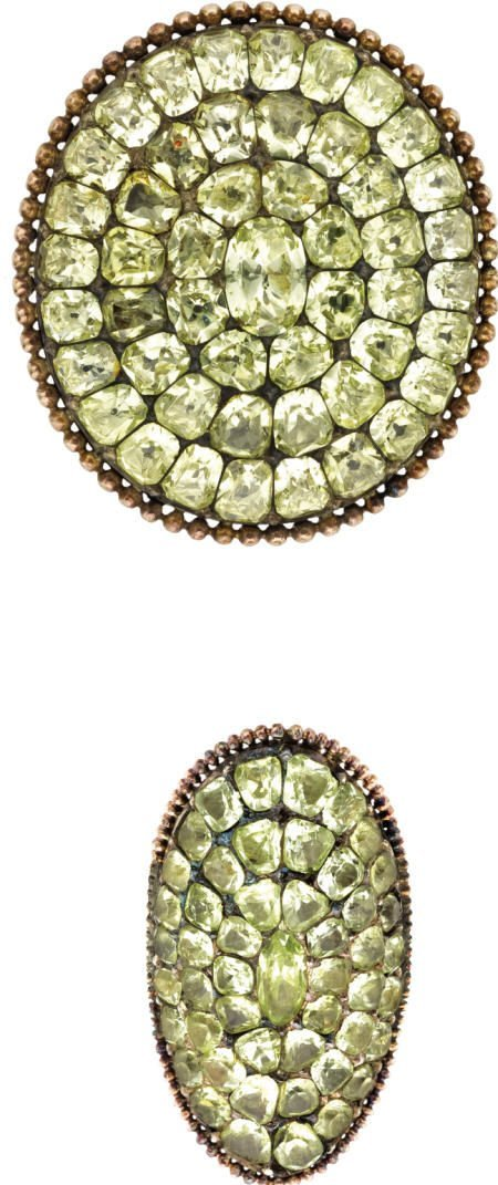46238: Victorian Chrysoberyl Silver-Topped Gold Suite