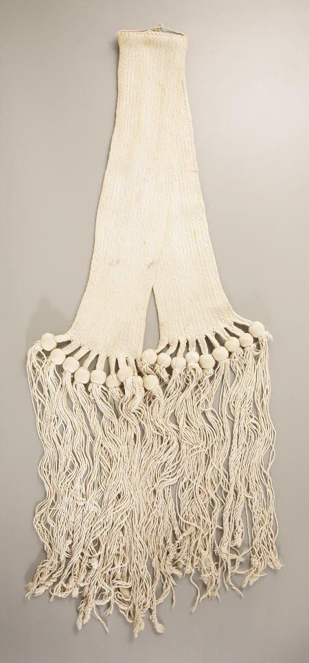74013: A PUEBLO WOVEN COTTON WEDDING SASH c.  1910