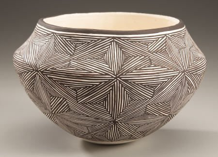 74022: AN ACOMA BLACK-ON-WHITE JAR Lucy M. Lewis c.