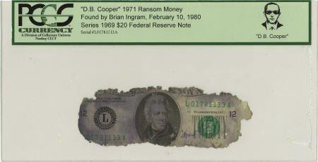 """70286: """"D. B. Cooper"""" 1971 Ransom Money."""
