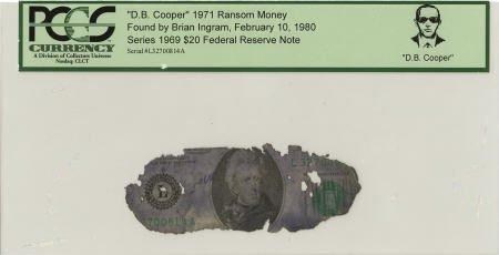 """70287: """"D. B. Cooper"""" 1971 Ransom Money."""