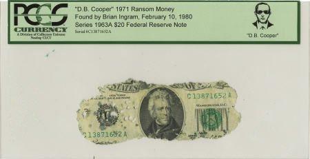 """70288: """"D. B. Cooper"""" 1971 Ransom Money."""