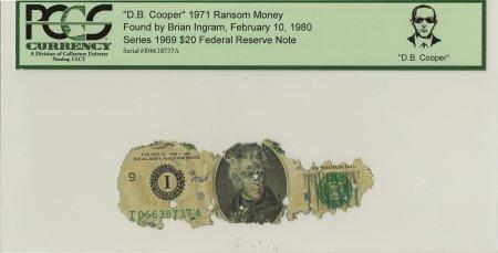 """70289: """"D. B. Cooper"""" 1971 Ransom Money."""