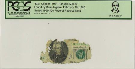 """70291: """"D. B. Cooper"""" 1971 Ransom Money."""