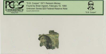 """70292: """"D. B. Cooper"""" 1971 Ransom Money."""