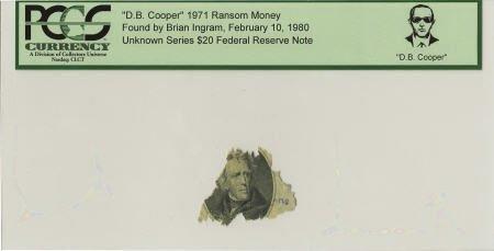"""70293: """"D. B. Cooper"""" 1971 Ransom Money."""