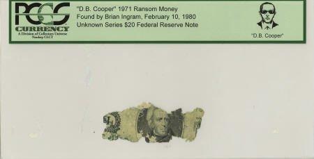 """70294: """"D. B. Cooper"""" 1971 Ransom Money."""