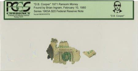 """70296: """"D. B. Cooper"""" 1971 Ransom Money."""