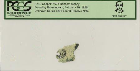 """70297: """"D. B. Cooper"""" 1971 Ransom Money."""