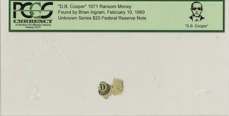 """70298: """"D. B. Cooper"""" 1971 Ransom Money."""