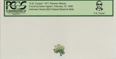 """70299: """"D. B. Cooper"""" 1971 Ransom Money."""