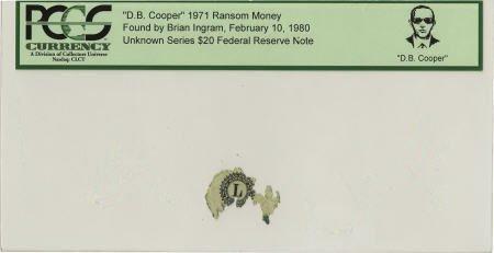"""70300: """"D. B. Cooper"""" 1971 Ransom Money."""