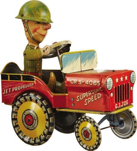 70305: G.I. Joe & His Jouncing Jeep Mechanical Tin Toy
