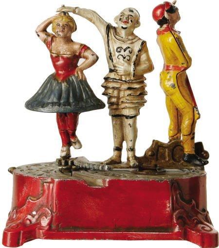 70309: Clown, Harlequin and Columbine Mechanical Bank