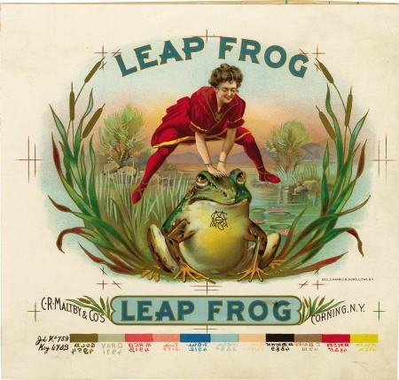 70495: Leap Frog Cigar Inner Label Proof by Harris NY