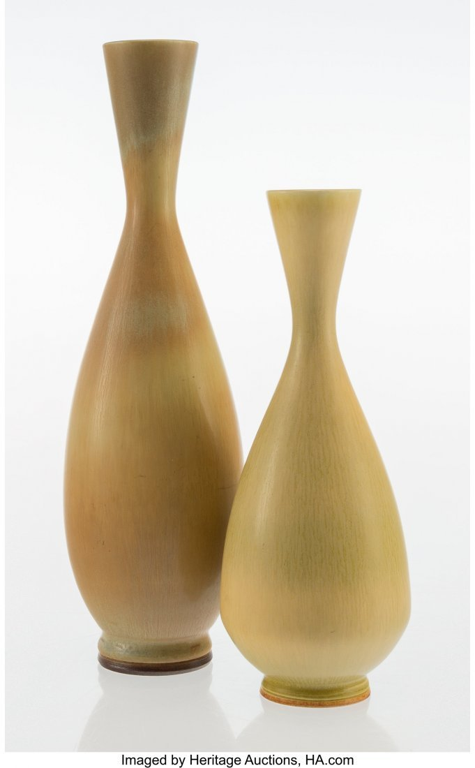 67056: Berndt Friberg (Swedish, 1899-1981) Two Vases, c