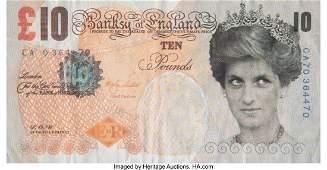 93001: Banksy X Banksy of England Di-Faced Tenner, 10 G