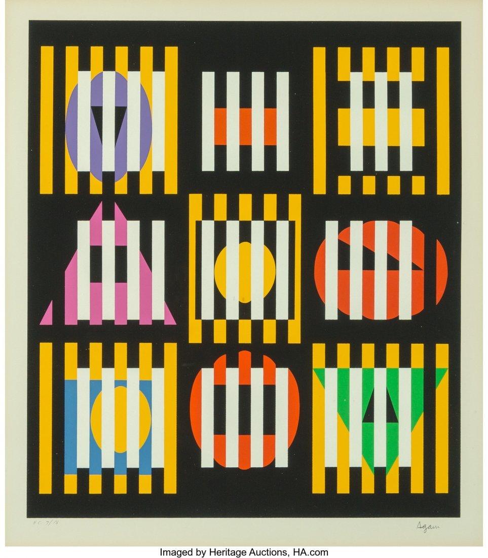 27169: Yaacov Agam (Israeli, b. 1928) Untitled, late 20