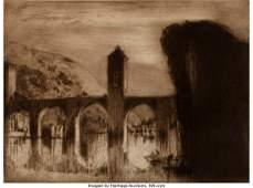 27090: SIR FRANK BRANGWYN (British, 1867-1956) Bridge a