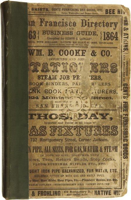 72004: San Francisco, California Directory, 1863.