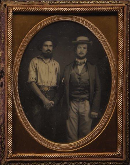 72009: ? Plate Cased Dag of CA Gold Miner w/ Gentleman