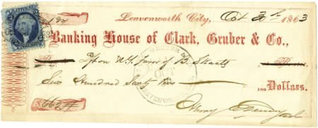 72015: Banking House of Clark, Gruber & Company 1863 -