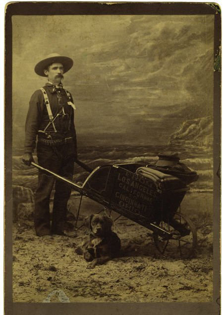72023: Cabinet Card Photo Armed Miner with Wheel Barrow