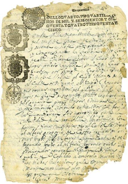 76002: Alonso de Leon Manuscript Document Signed Twice,