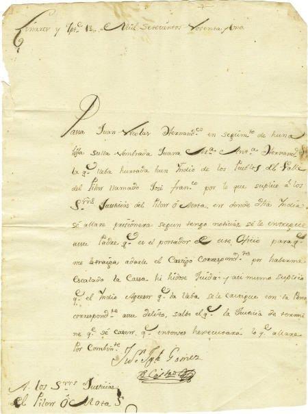 76006: Juan Jos? G?mez de Castro Autograph Letter