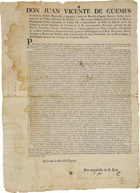 76008: Conde de Revilla Gigedo, War on France