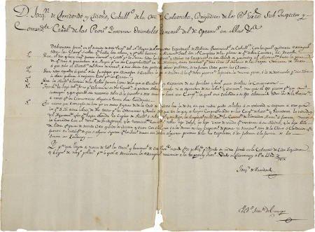 76014: Joaqu?n de Arredondo. 1815 AD Concerning Draft