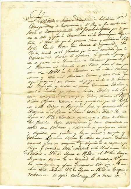 76016: Juan Antonio Padilla ADS Ferdinand VII Decree