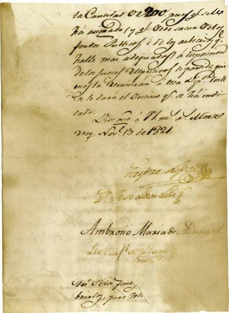 76017: Gaspar L?pez Manuscript Document Signed.