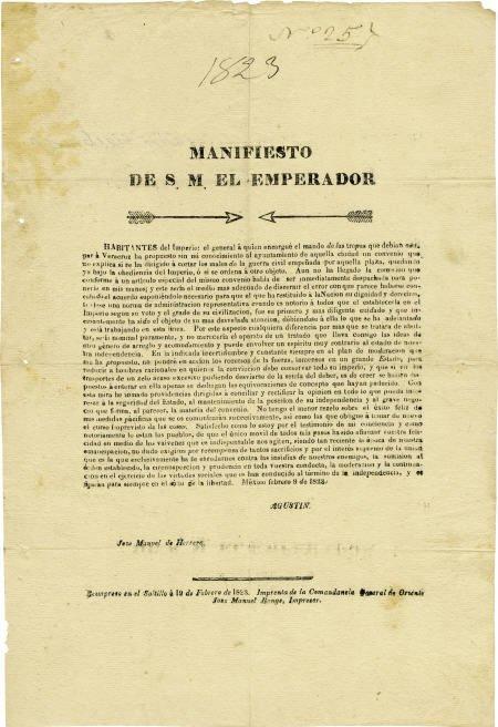 76018: Broadside: Manifiesto de S.M. el Eperador.