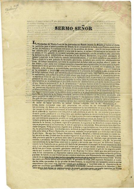 76023: Protest against Estado Interno de Oriente 1824