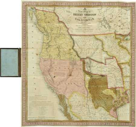 76336 Mitchell S 1846 Map Of Texas Oregon Cal